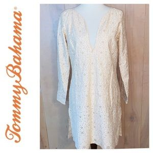 Tommy Bahama Dress/Coverup in Cream Eyelet. Sz S
